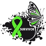 Butterfly Tattoo Lymphoma Survivor Shirts