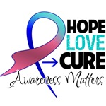 Hope Love Cure Thyroid Cancer Shirts