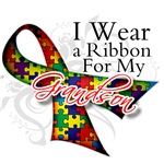 For My Grandson - Autism Ribbon Shirts and Gifts