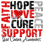 Collage Hope Cure Skin Cancer Shirts