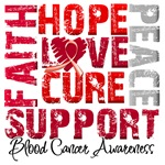 Collage Hope Cure Blood Cancer Shirts