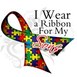 For My Sons Autism Ribbon Shirts and Gifts
