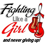 Fighting Like a Girl Heart Disease Shirts