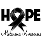 Hope Ribbon Melanoma Shirts and Gifts