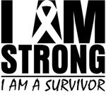 I am Strong Skin Cancer Shirts and Gifts