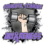 Strength Courage Hodgkins Awareness Shirts