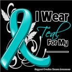 I Wear Teal Ribbon Ovarian Cancer Awareness Shirts