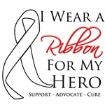 Bone Cancer I Wear a Ribbon For My Hero Shirts