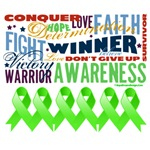 Empowering Words Lymphoma Shirts