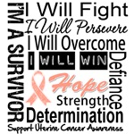 Uterine Cancer Persevere Shirts