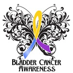 Butterfly Floral Bladder Cancer Shirts and Gifts