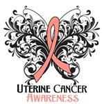 Butterfly Floral Uterine Cancer Shirts and Gifts