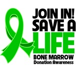 Join In Save a Life Bone Marrow Donation Shirts