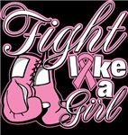 Scripted Fight Like a Girl Breast Cancer Shirts