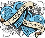 Prostate Cancer Survivor Double Heart Shirts