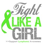 Lymphoma Fight Like a Girl Shirts and Gifts