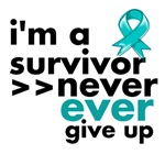 Never Give Up Ovarian Cancer Shirts