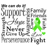 Lymphoma Supportive Words Shirts and Gifts