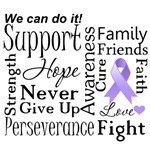 General Cancer Supportive Words Shirts and Gifts
