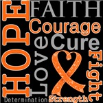 Hope Faith Courage Kidney Cancer Shirts