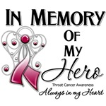 In Memory of My Hero Throat Cancer Shirts 