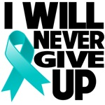 I Will Never Give Up Ovarian Cancer Shirts