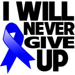 I Will Never Give Up Colon Cancer Shirts