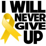 I Will Never Give Up Childhood Cancer Shirts