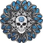 Goth Skull - Blue