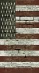Old Brick Wall American Flag