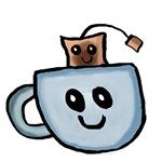 Chibi teabag and tea cup