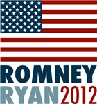 Romney Ryan 2012 Big American Flag