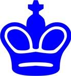 Blue King Chess Piece