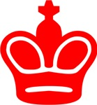 Red King Chess Piece