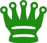 Green Queen Chess Piece