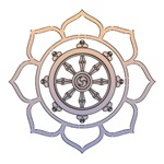 Dharma Wheel with Lotus Flower
