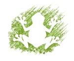 Frog - grunge outline