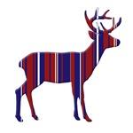 Deer - American Patriotic colors