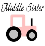 Middle Sister - Pink Tractor