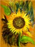 hand painted sunflower