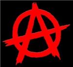 Anarchy Symbol Red