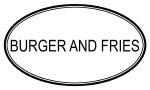 BURGER AND FRIES (oval)