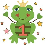 Age 1 First Birthday Frog Princess
