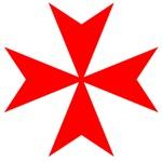 Red Maltese Templar Cross