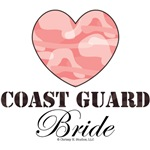Coast Guard Bride Pink Camo Heart
