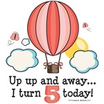 Hot Air Balloon 5th Birthday Party Ideas Gifts