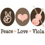 Peace Love Viola Violist T shirt Gifts