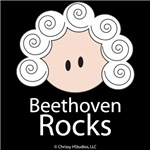 Beethoven Rocks Composer T shirt Gifts