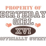 Sweet 16 Sixteenth Birthday T-shirt Gifs