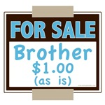 Funny Brother For Sale Baby Kid Onesie Tees